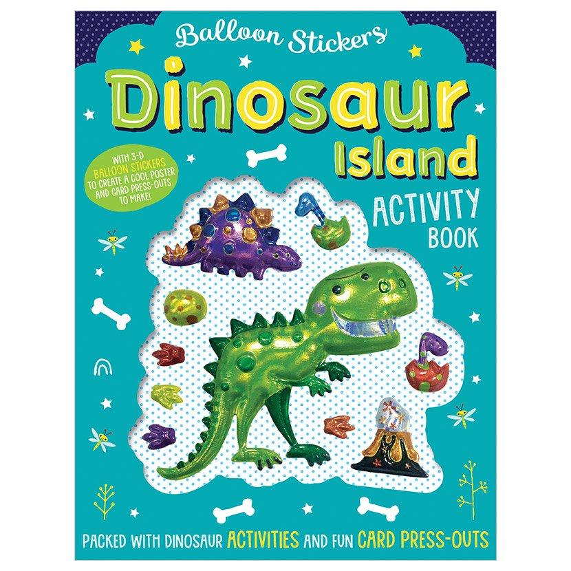 First Spread of Balloon Stickers Dinosaur Island Activity Book (9781788436694)