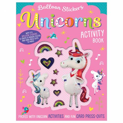 First Spread of Balloon Stickers Unicorns Activity Book (9781788436687)