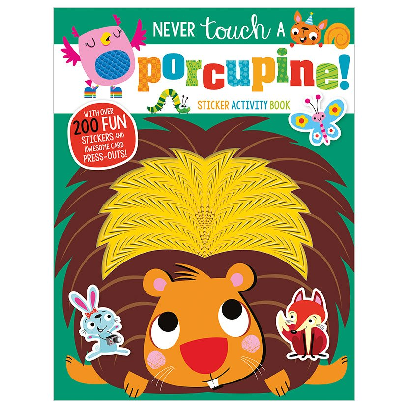 First Spread of Never Touch a Porcupine Sticker Activity Book (9781789477917)