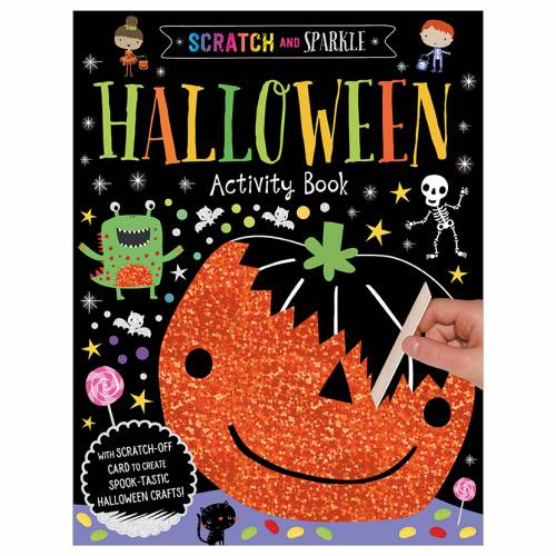 First Spread of Scratch and Sparkle Halloween Activity Book (9781788438971)