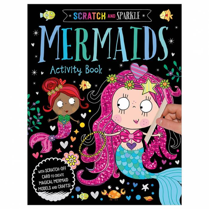First Spread of Scratch and Sparkle Mermaids Activity Book (9781789470345)