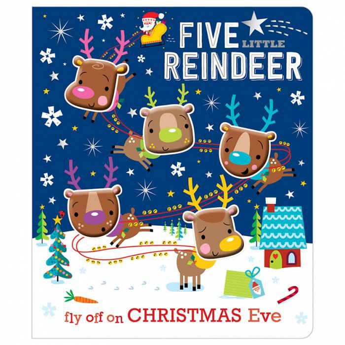 First Spread of Five Little Reindeer (9781786923448)