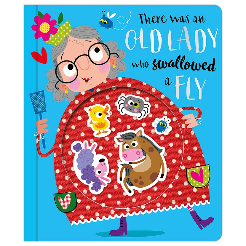 First Spread of There Was an Old Lady Who Swallowed a Fly (9781788432351)