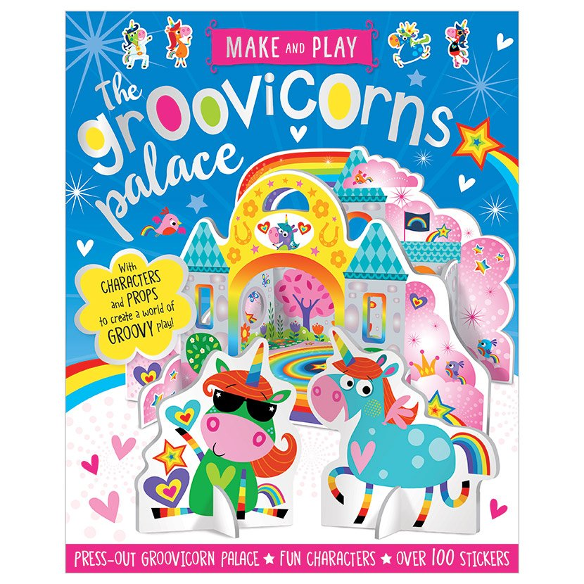 First Spread of Make and Play Groovicorns Palace (9781788432436)