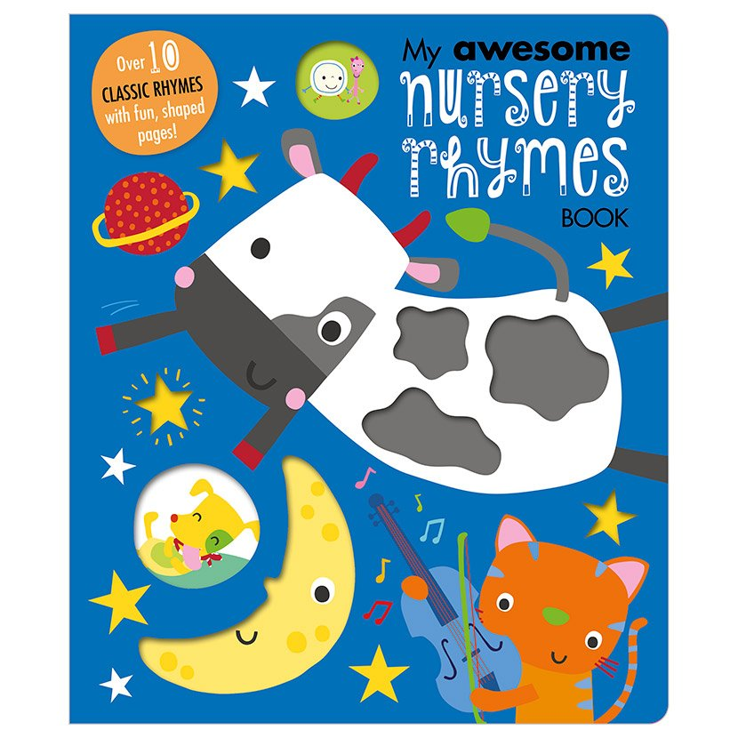 First Spread of My Awesome Nursery Rhymes Book (9781786929051)