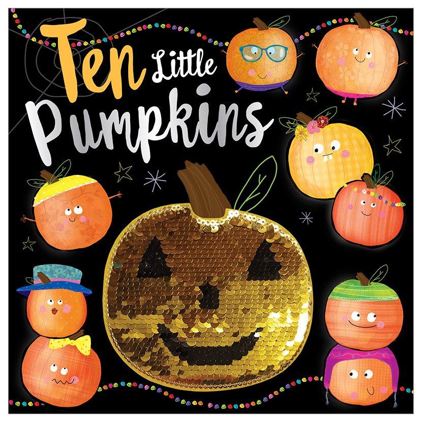 First Spread of Ten Little Pumpkins (9781788431668)