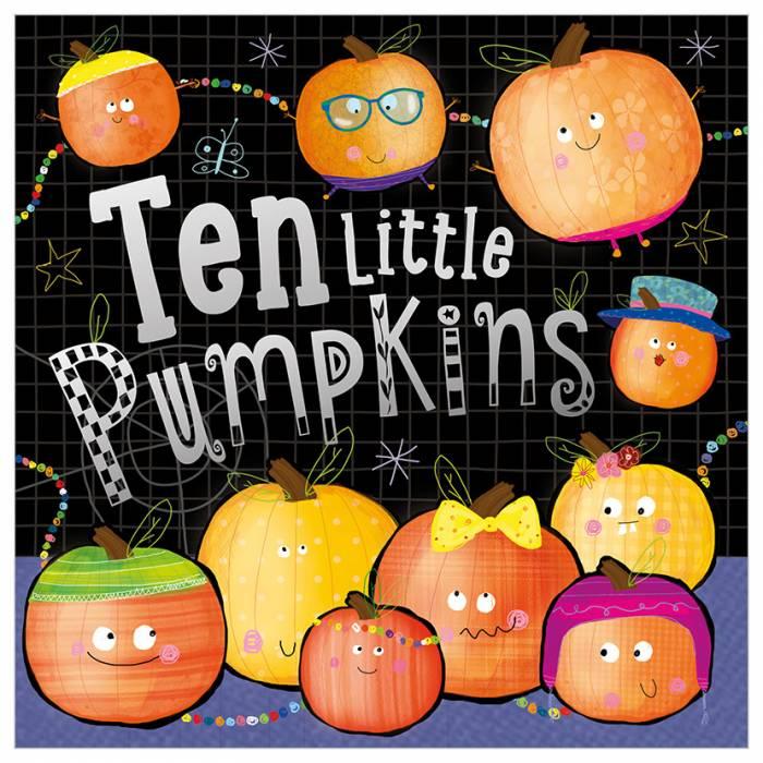 First Spread of Ten Little Pumpkins (9781788439213)