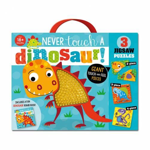 First Spread of Never Touch a Dinosaur Jigsaw (9781789474312)