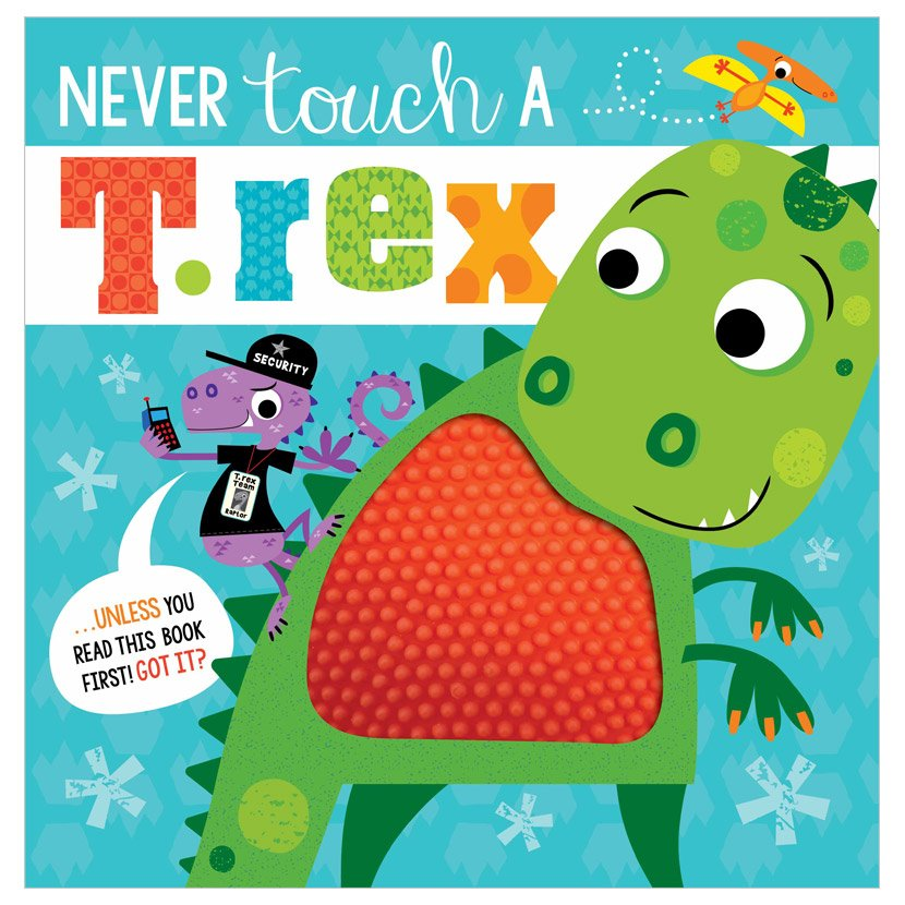 First Spread of Never Touch a T. rex! (9781789473810)