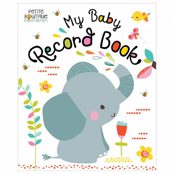 First Spread of Petite Boutique Baby Record Book (9781786924452)