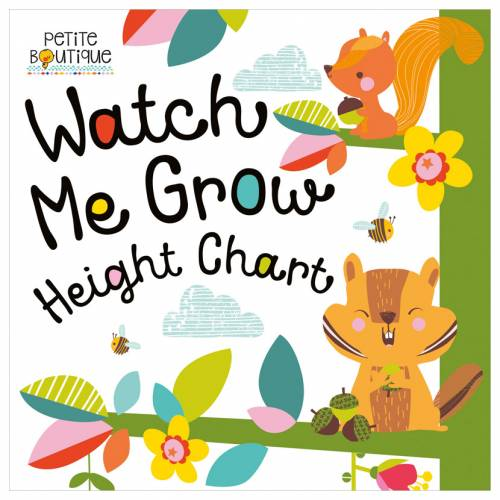 First Spread of Petite Boutique Watch Me Grow Height Chart (9781786921253)