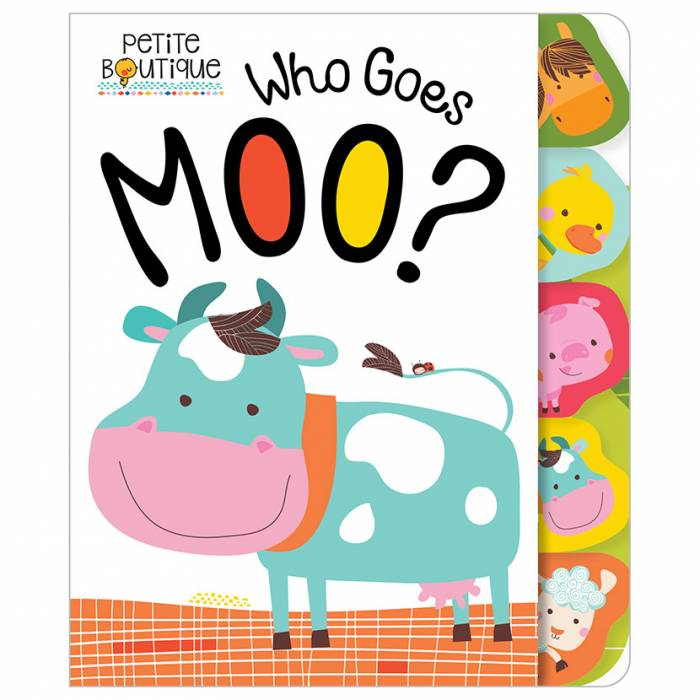 First Spread of Petite Boutique Who Goes Moo? (9781786921215)