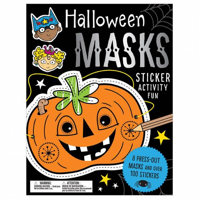 First Spread of Halloween Masks Sticker Activity Fun (9781786922151)