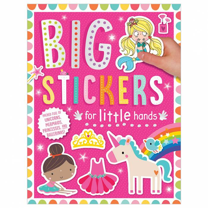First Spread of Big Stickers for Little Hands My Unicorns and Mermaids Pink (9781788433600)