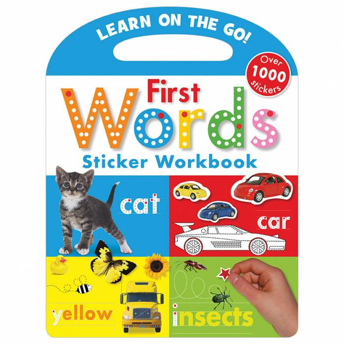 First Spread of Learn On the Go First Words Sticker Workbook (9781848795730)