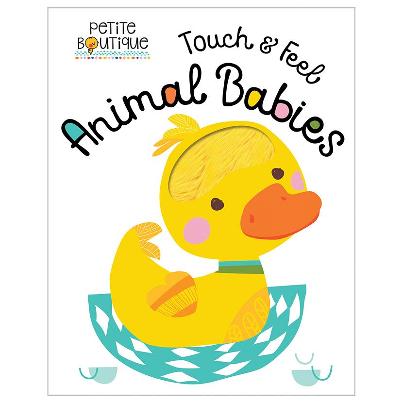 First Spread of Petite Boutique Touch and Feel Animal Babies (9781786921291)