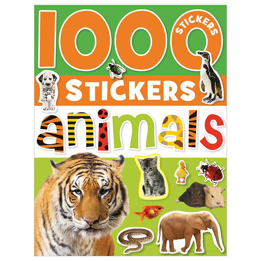 First Spread of 1000 Stickers Animals (9781848790735)
