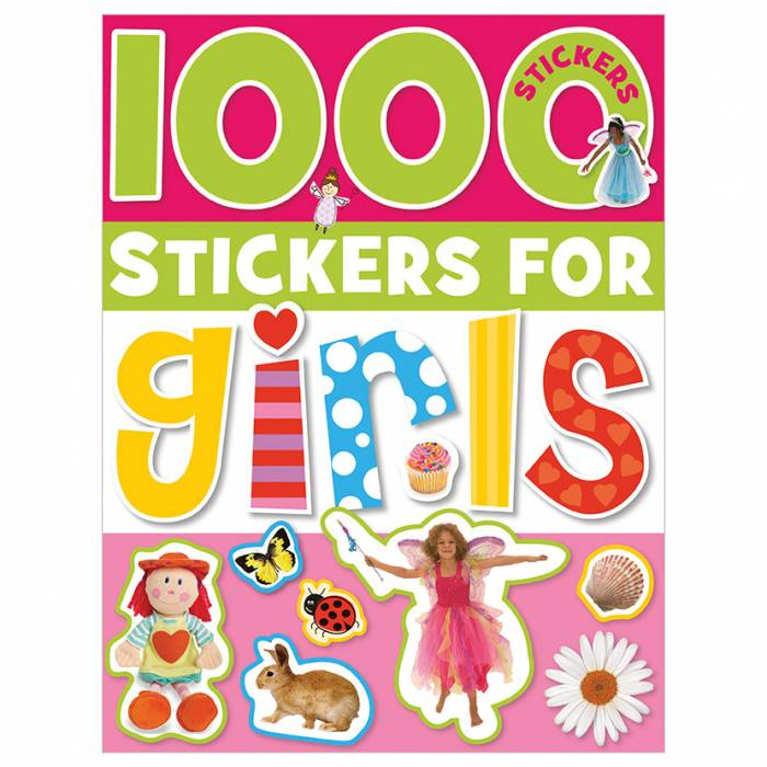 First Spread of 1000 Stickers For Girls (9781848790711)
