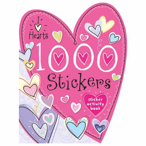 First Spread of 1000 Stickers I Love Hearts (9781782358961)