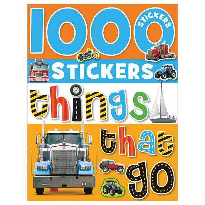 First Spread of 1000 Stickers Things That Go (9781848790728)