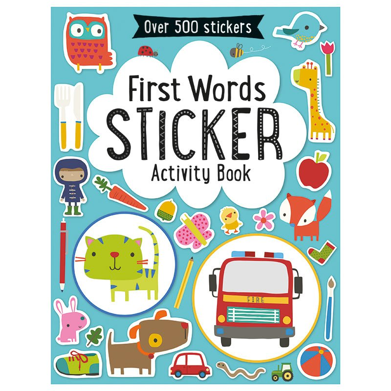 First Spread of First Words Sticker Activity Book (9781783938308)