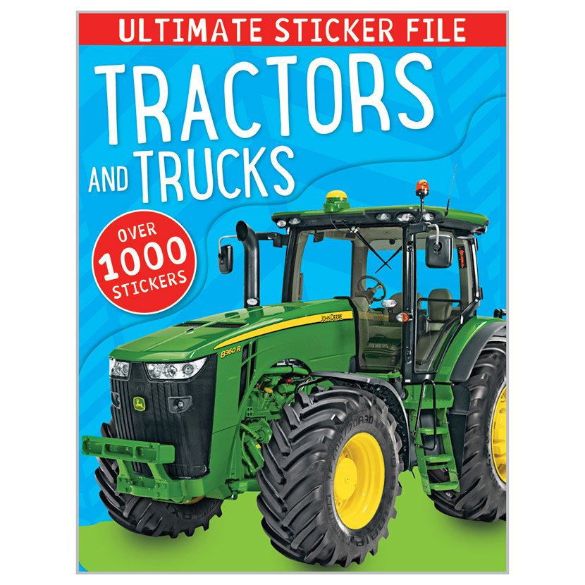 First Spread of Ultimate Sticker File Tractors and Trucks (9781783931163)