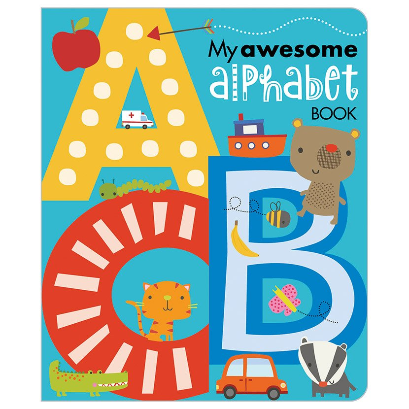 First Spread of My Awesome Alphabet Book (9781783937547)