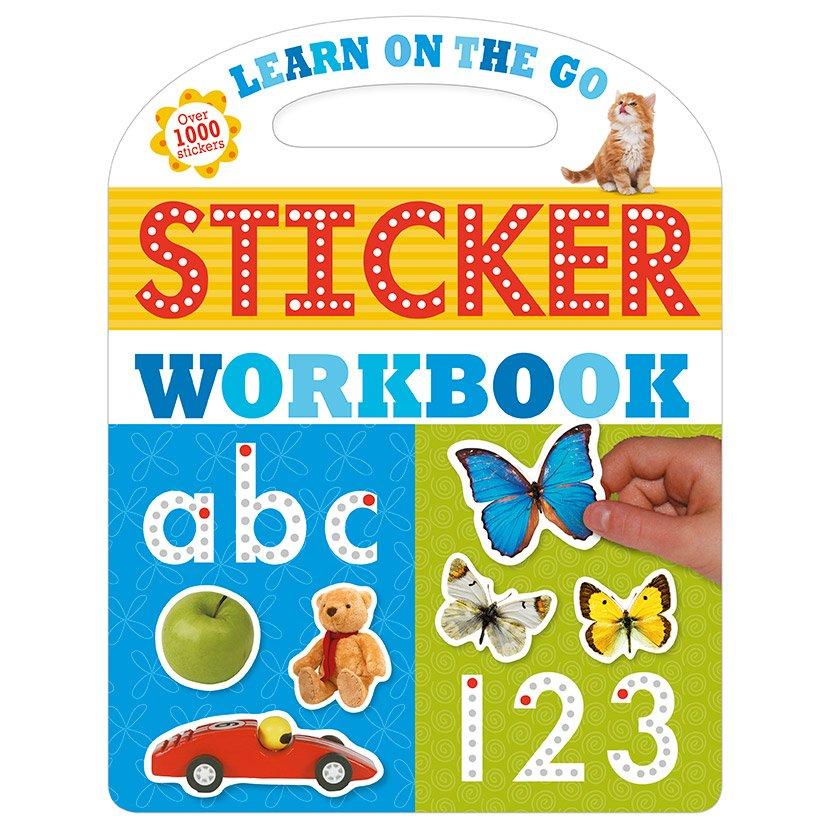 First Spread of Learn on the Go Sticker Workbook (9781783933082)
