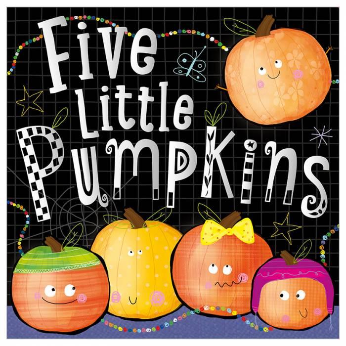 First Spread of Five Little Pumpkins (9781785984006)