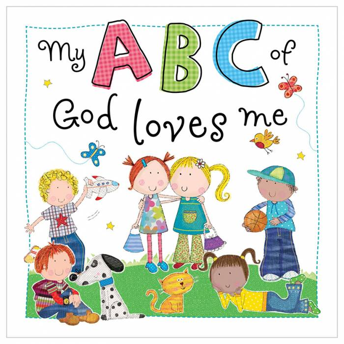 First Spread of My ABC of God Loves Me (9781848797802)