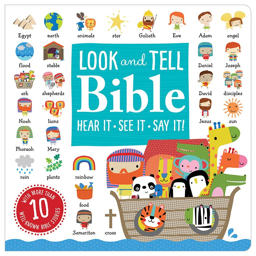 First Spread of Look and Tell Bible (9781785981524)