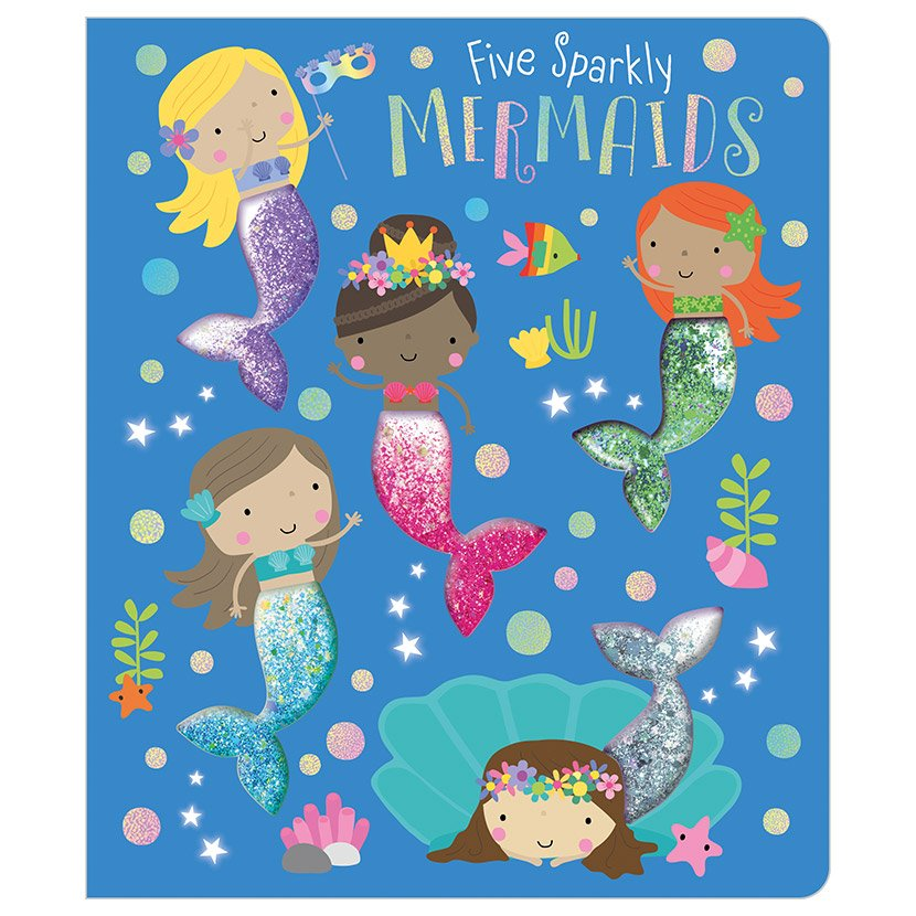 First Spread of Five Sparkly Mermaids (9781789473674)