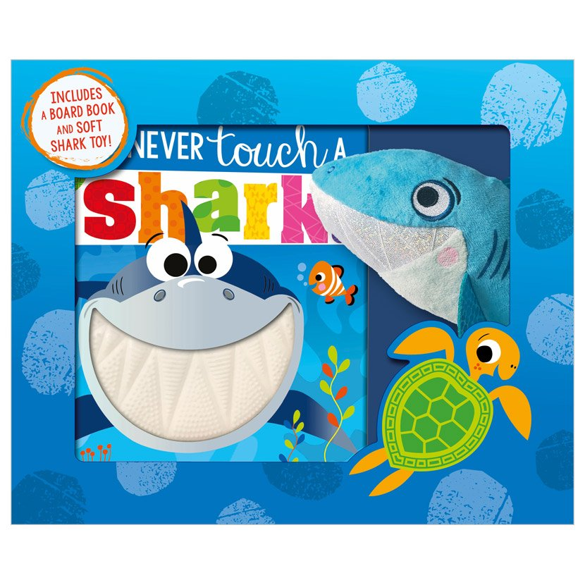 First Spread of Never Touch a Shark! (9781800581272)