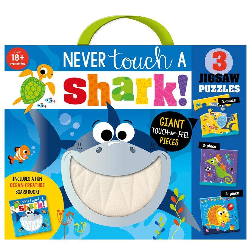 First Spread of Never Touch a Shark Jigsaw (9781800583283)