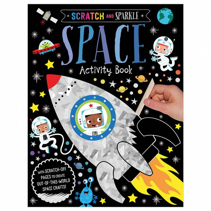 First Spread of Scratch and Sparkle Space Activity Book (9781789477979)