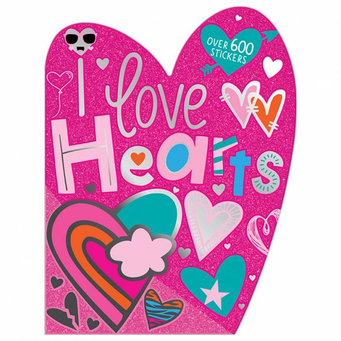 First Spread of I Love Hearts Sticker Activity Book (9781789474190)