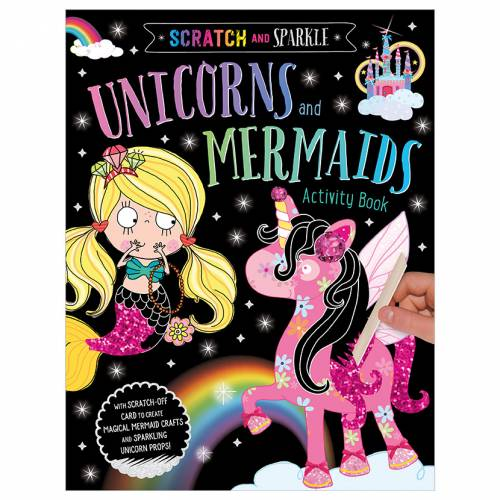 First Spread of Scratch and Sparkle Unicorns and Mermaids Activity Book (9781789475050)