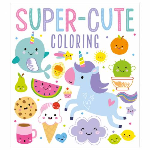 First Spread of Super-Cute Coloring (9781800586222)