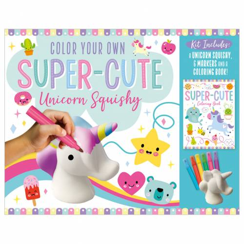 First Spread of Color Your Own Super-Cute Unicorn Squishy (9781800586260)