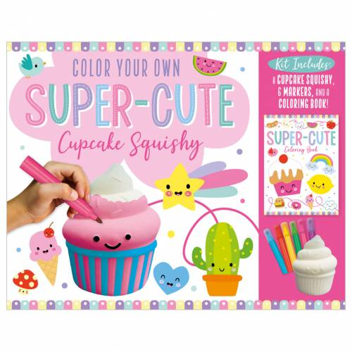 First Spread of Color Your Own Super-cute Cupcake Squishy (9781800586253)
