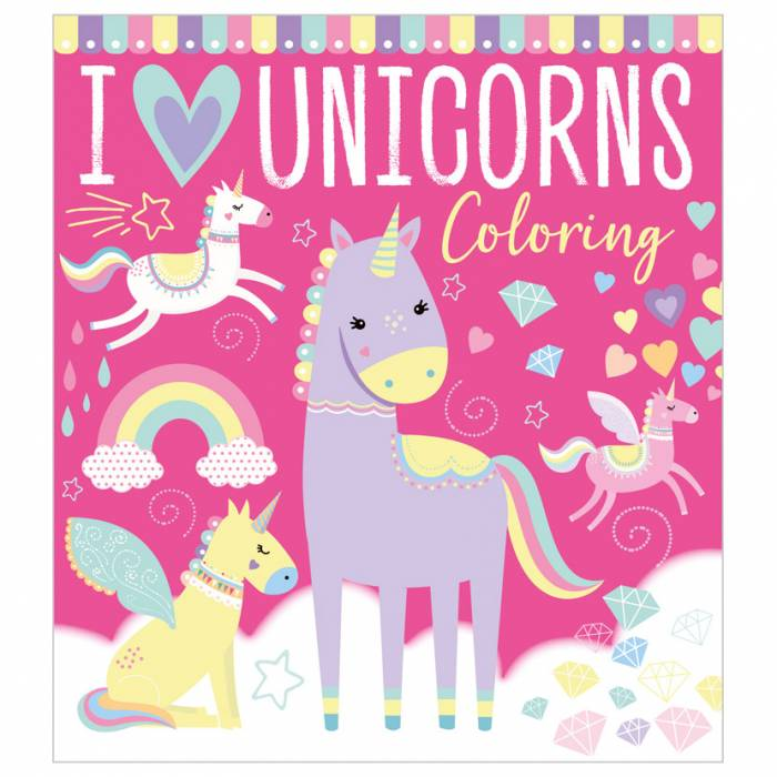 First Spread of I Love Unicorns Coloring (9781800586239)