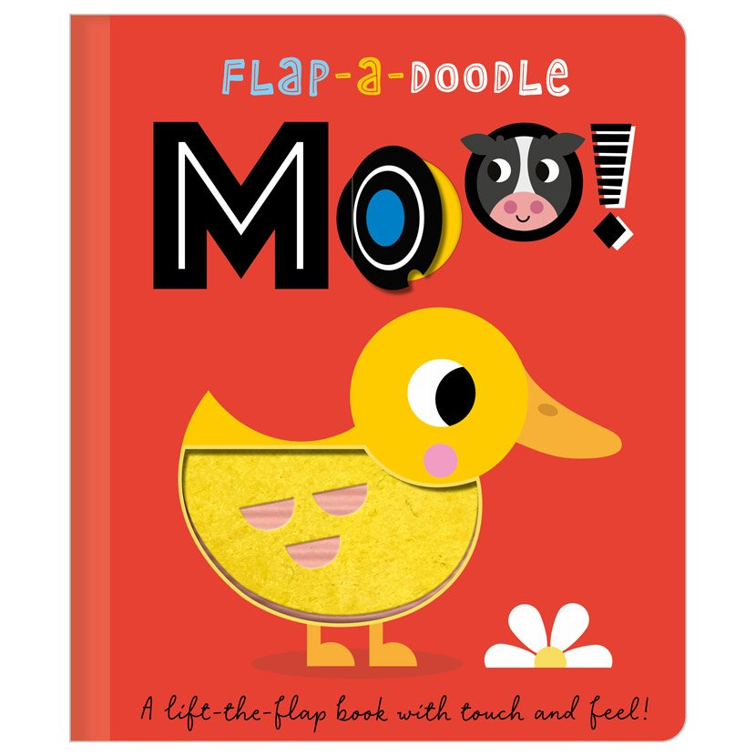 First Spread of Flap-a-Doodle Moo! (9781800581845)