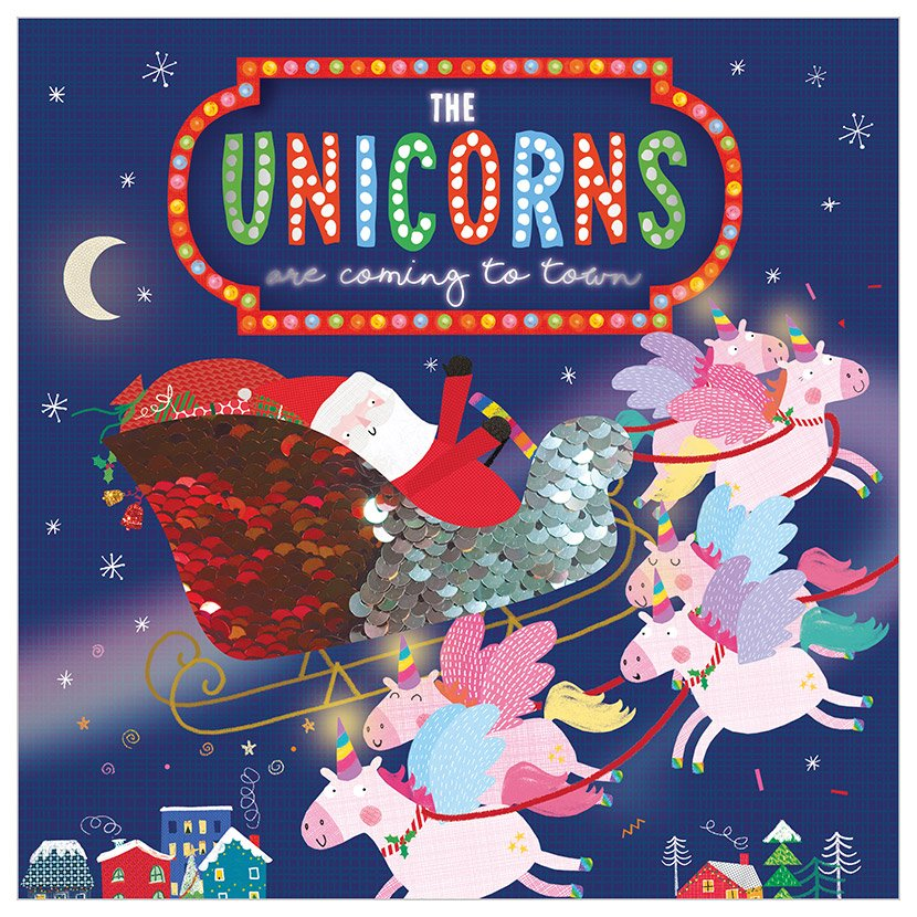 First Spread of The Unicorns Are Coming to Town (9781789477665)