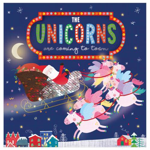 First Spread of The Unicorns Are Coming to Town (9781800580152)