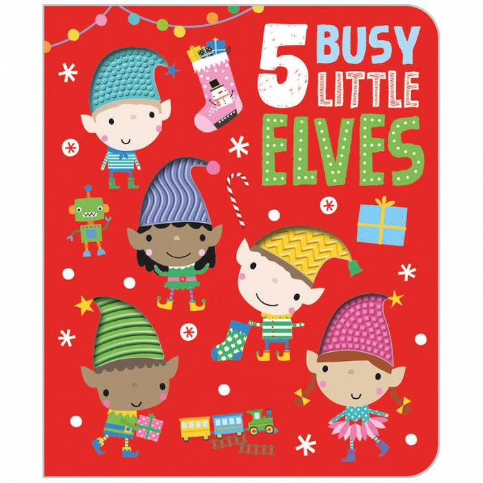 First Spread of Five Busy Little Elves (9781789477573)