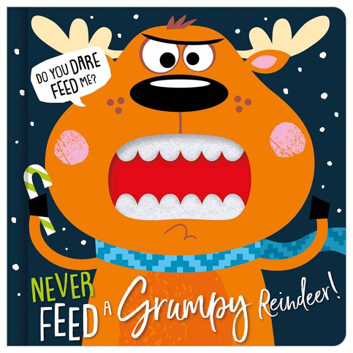 First Spread of Never Feed a Grumpy Reindeer (9781789477177)