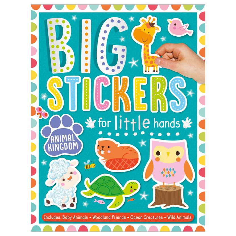 First Spread of Big Stickers for Little Hands Animal Kingdom (9781800581753)