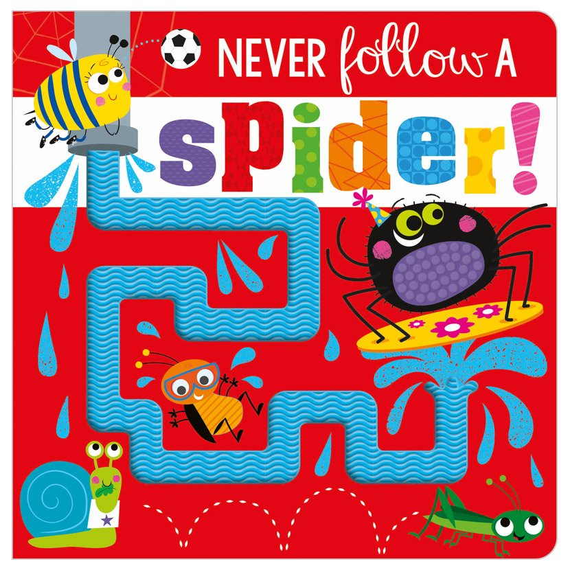 First Spread of Never Follow a Spider! (9781800581302)