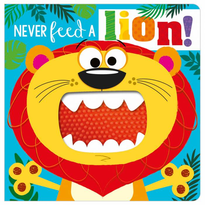 First Spread of Never Feed a Lion! (9781800581319)