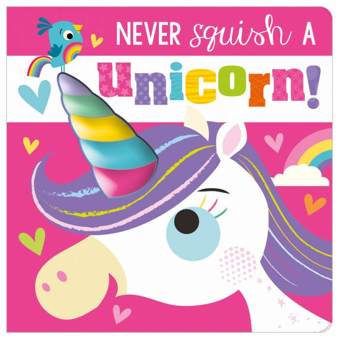 First Spread of Never Squish a Unicorn! (9781800581326)